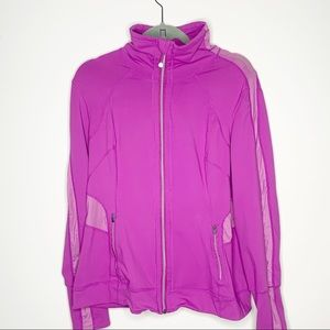 Tangerine Athletic Zip Up Purple Running Jacket